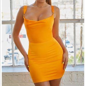 Oh Polly Satin Bodycon Mini Dress